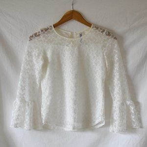 Beautees White Lace Blouse